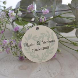 étiquette mariage champêtre, Provence, papier ivoire