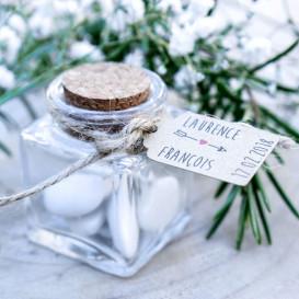 étiquette mariage, flèche, papier kraft