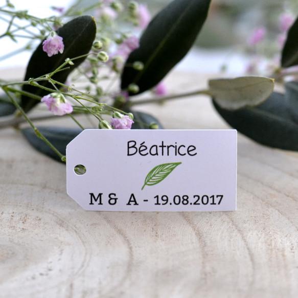 marque-place, mariage, végétal, papier blanc