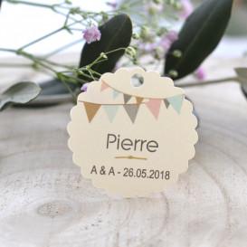 porte-nom mariage, papier ivoire, décoration de table