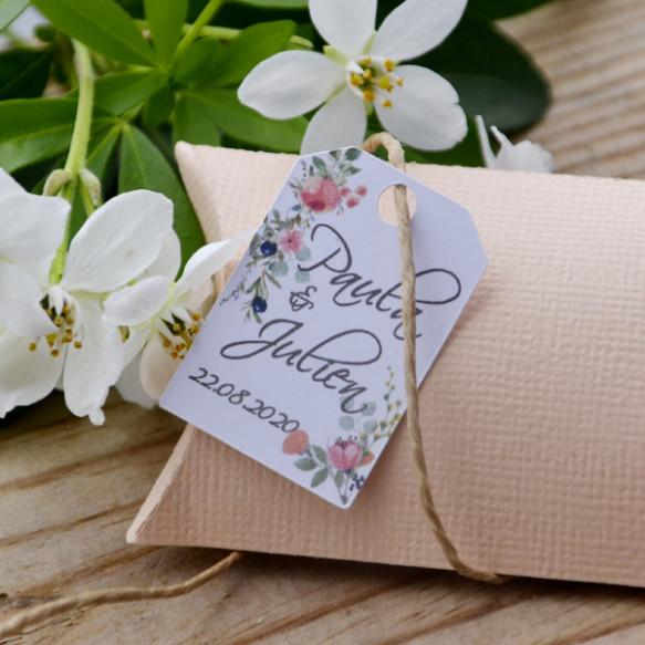 étiquette blanche, mariage, Provence, bouquet de fleurs