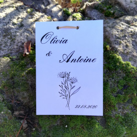 mariage - sachet de graines à semer - papier blanc