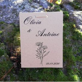 mariage - sachet de graines à semer - papier kraft