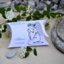 boite cadeau invité, naissance, baptême, communion, ange, bleu