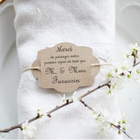Etiquette mariage, premier repas, vintage, baroque